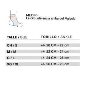 Tobillera Estabilizadora con ajuste en Velcro Body Care